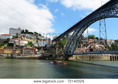 Porto City and Dom Luís Bridge, Portugal