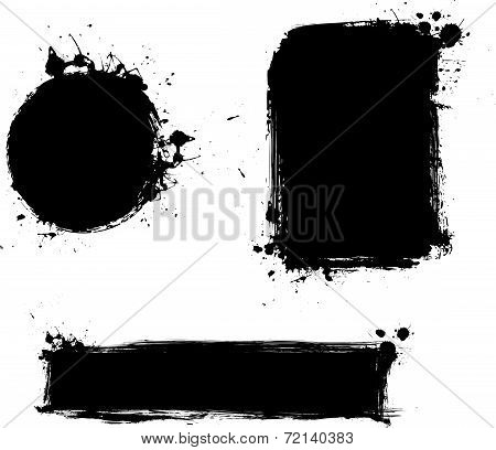Grunge Backgrounds Set