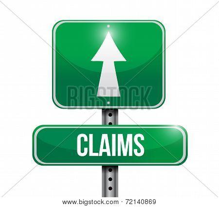 Claims Ahead Street Sign Illustration Design