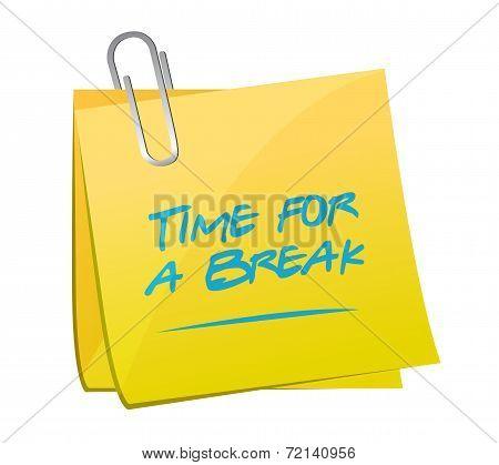 Time For A Break Memo Illustration Design