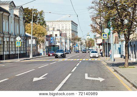 Bolshaya Ordynka Street In Moscow