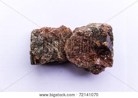 A close-up image of edible Himalayan black salt