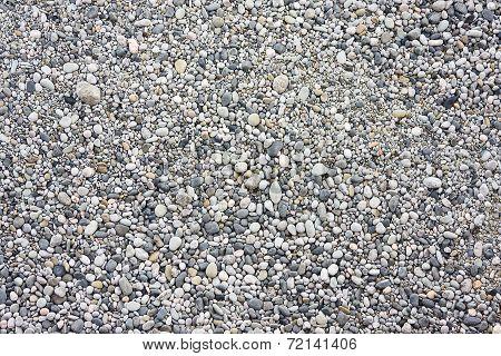 many small stones