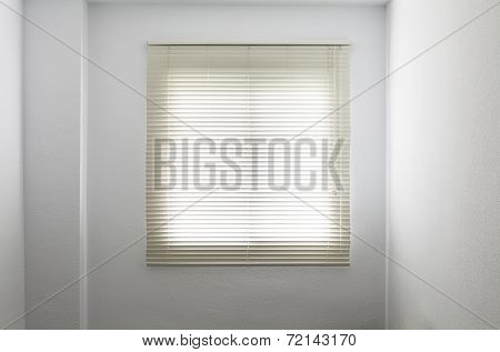 Venetian Blinds In A White Empty Room