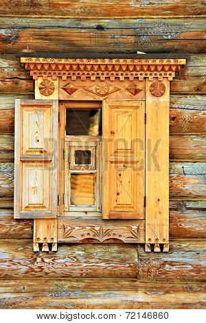 wooden carved window jamb