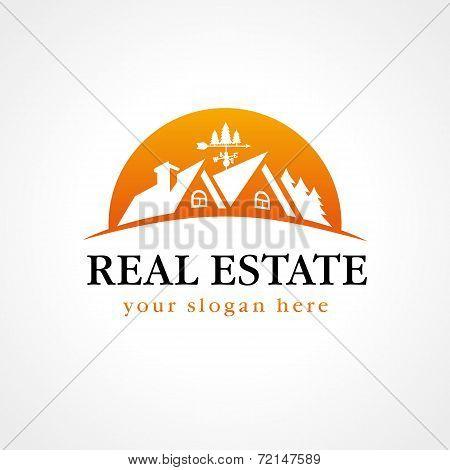 Real estate Sign wood sun