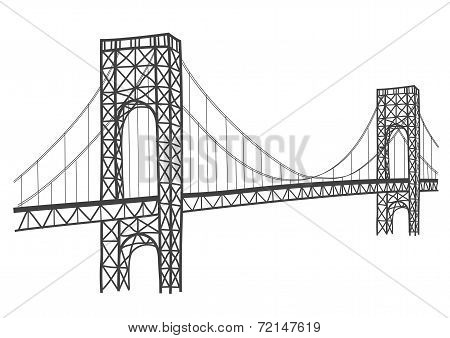 george washington bridge drawing