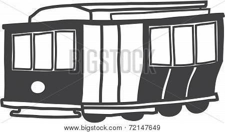 sketch of San Francisco cable car
