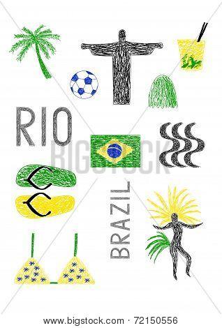 Typical Symbols Of Brazil
