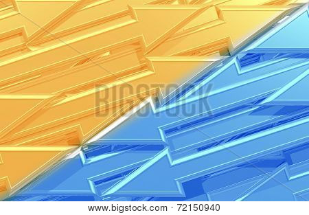 3D Arrows Background