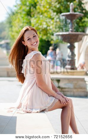 Attractive Red-haired Girl