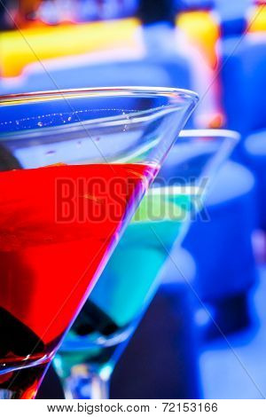 Blue And Red Cocktail Drink