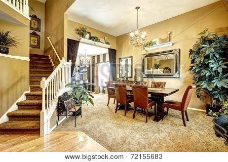 Dining Room In Luxury American House