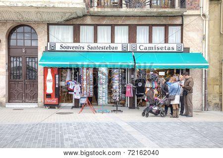 San-sebastian. Shop Of Souvenirs