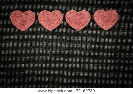 Symbols Of Hearts And Love Against A Dark Background