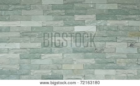 Green Slate Wall Texture And Background