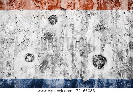 Crimea Flag On A Weathered Grunge Background