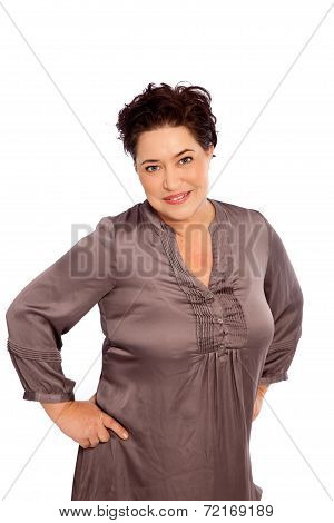 Portrait Of Woman With Hands On Hips