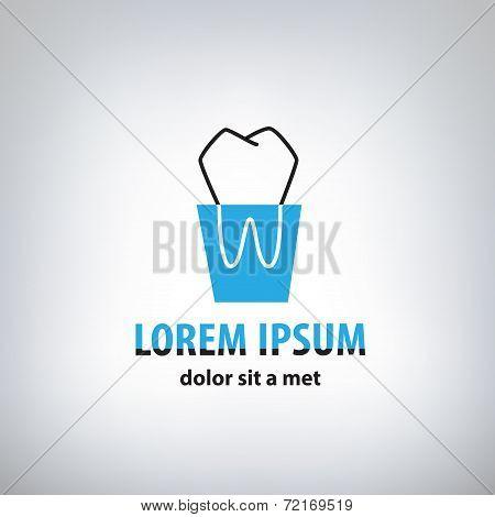 Dental Medicine logo design template
