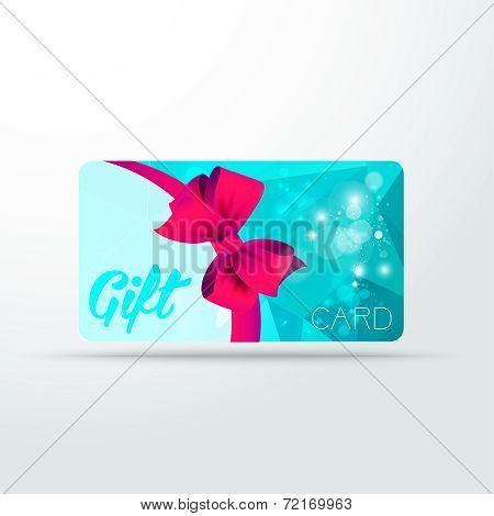 Gift card colour triangle with shine and ribbon