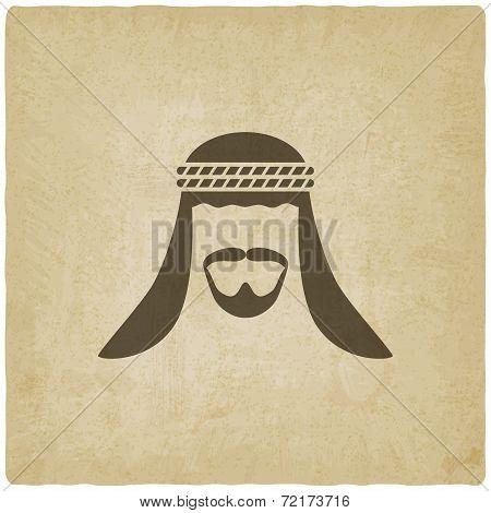 Arabic man avatar old background