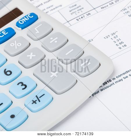 Utility Bill With Calculator