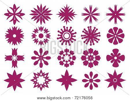 Floral Icon Design Vector Graphic Prints