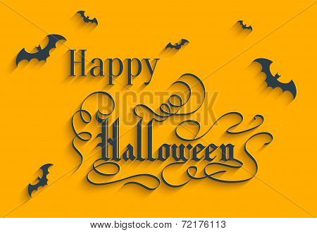 Happy Halloween Lettering Greeting Card