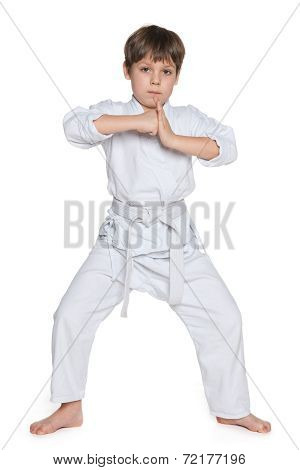 Little Boy In Gi