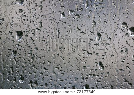 Rain Drops On A Windows