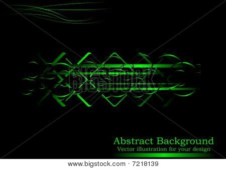 Creative black-green abstract background