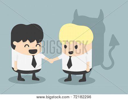 Businessman Handshake Impostor Black Tie