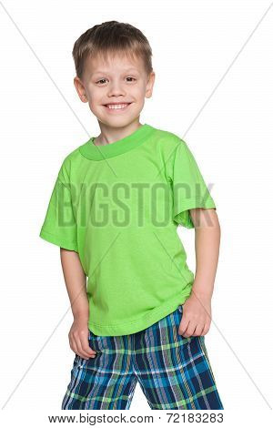 Little Boy In The Green Shirt