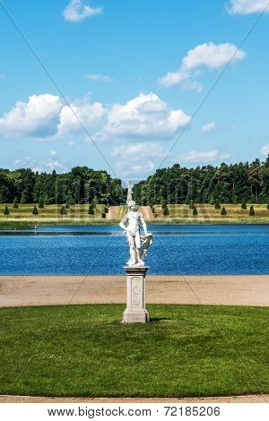 German Palace Rheinsberg on the Grienericksee, picturesque location, nature, architecture and art