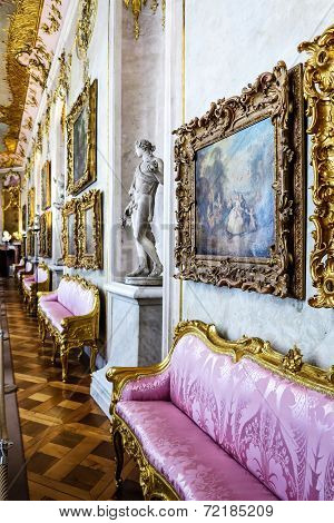 Sanssouci Palace Interior, Potsdam, Germany