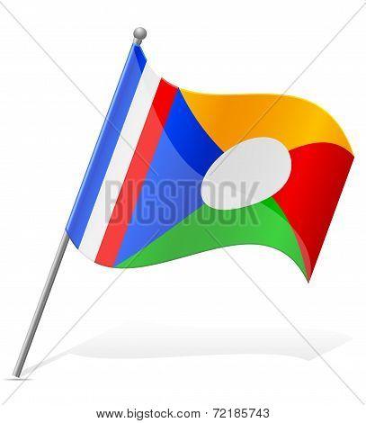 Flag Of Reunion Vector Illustration