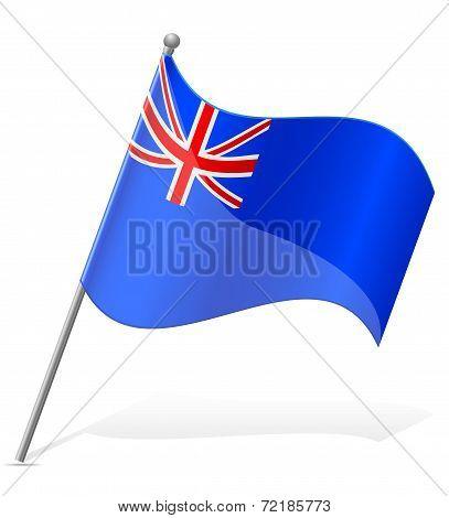 Flag Of Saint Helena Islands Vector Illustration