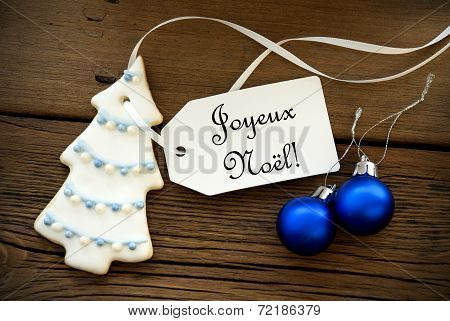 Christmas Background With French Christmas Greetings