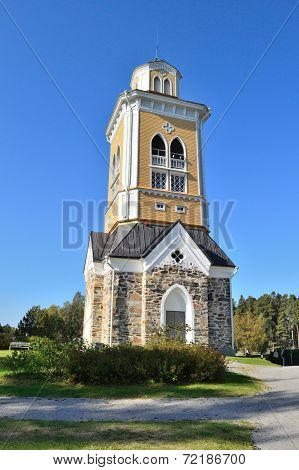 Wooden Bell-tower In Kerimaki, Finland