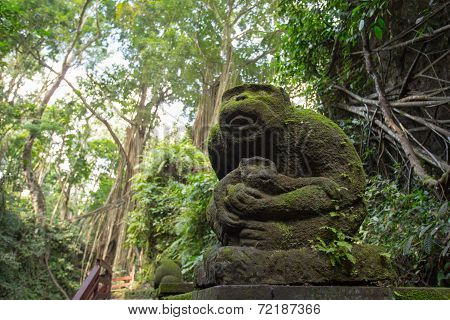 Monkey Forest Scuplture