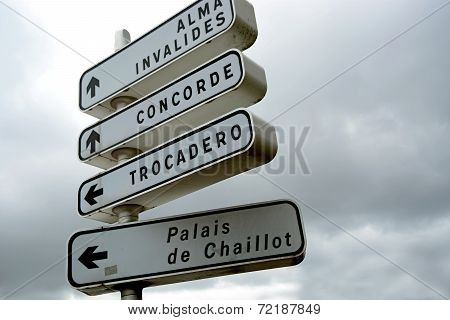 Paris road signage