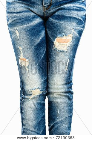 Fragmentary And Torn Jeans