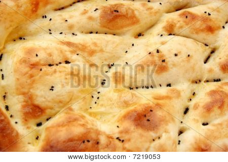 Handmade pita as background