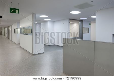 BARCELONA, CATALONIA/SPAIN - CIRCA 2011: Valle Hebron hospital room with all sanitary equipment