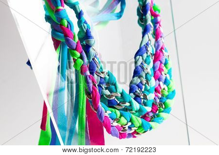 Lycra And Chain Necklaces