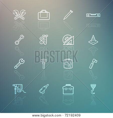Tools Icons On Retina Background