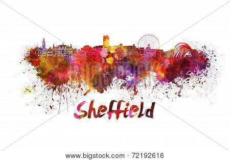 Sheffield Skyline In Watercolor