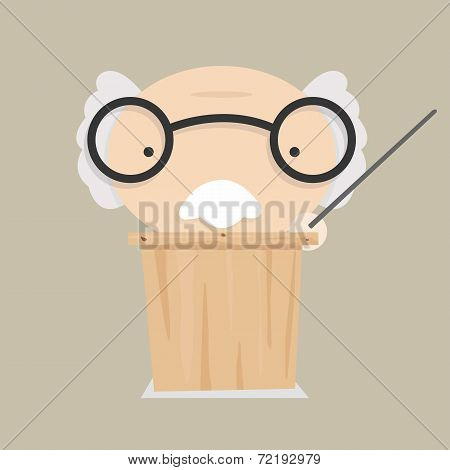 Vector cartoon scientist