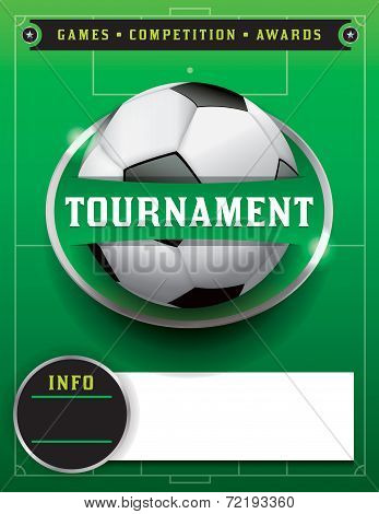 Soccer Football Tournament Template Illustration