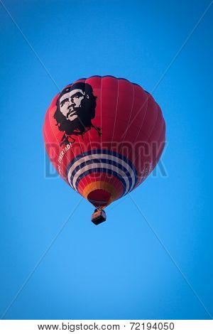Red flying balloon